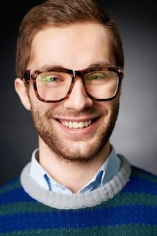Pullover glance smart student eyesight