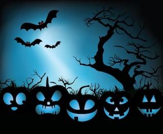 Pumpkin Halloween Vector Illustration