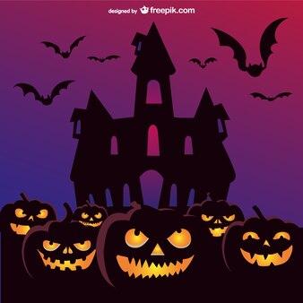 pumpkins scary scene
