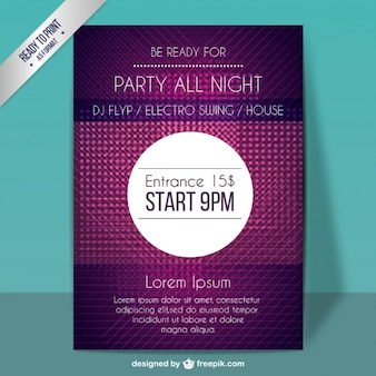 Purple party poster