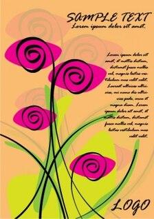 purple roses love card