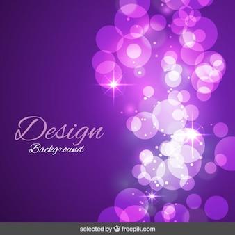 Purple shiny bubbles background