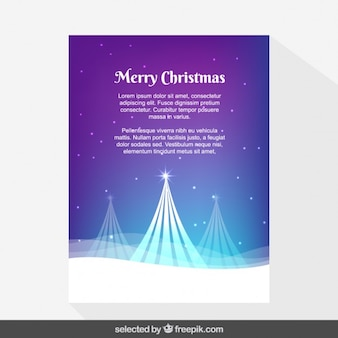 Purple snowy Christmas card