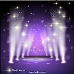 Purple spotlight stage vector