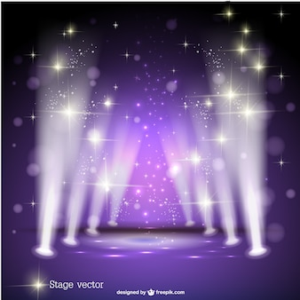 Purple spotlight stage vector