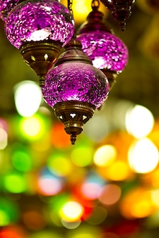 Purple turkish lamp