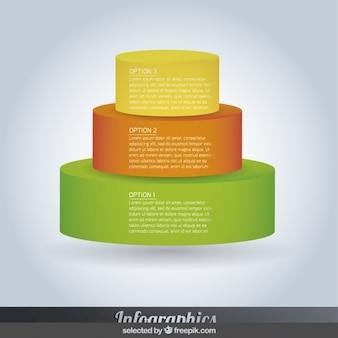 ピラミッド型のインフォグラフィックのステップ