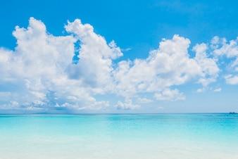 Quiet sea with blue sky
