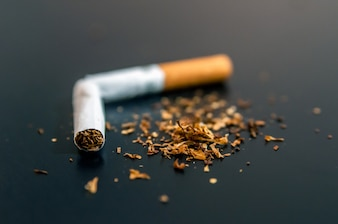 Quiting nicotine and tobacco addiction abstract concept. Copy s