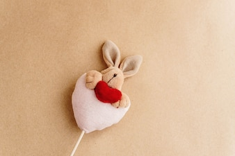 Rabbit stuffed with a heart
