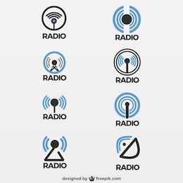 Radio antenna icons