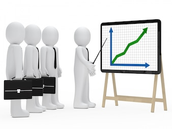 Rag doll pointing with a stick one graph and anothers looking