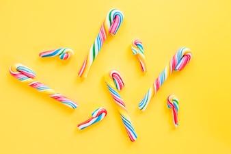 Rainbow candy canes