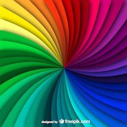 Rainbow swirl background