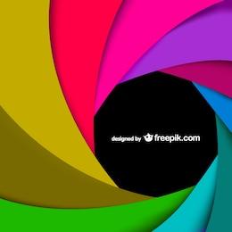Rainbow swirl vector art