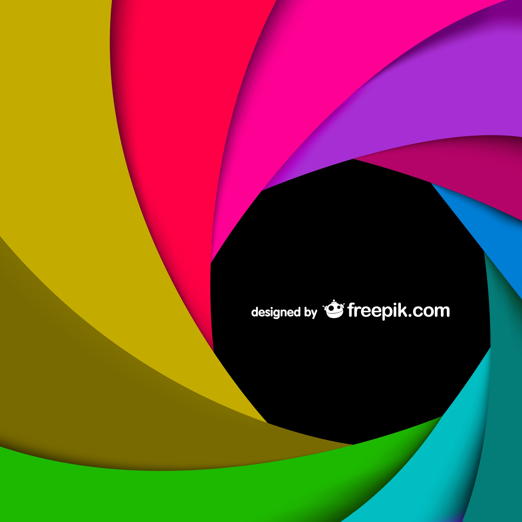 Rainbow swirl vector art