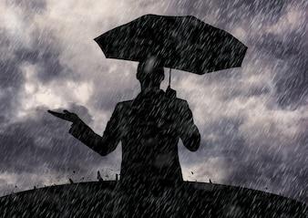 契約のデジタル雨が降っは、描画はね