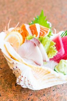 Raw and fresh sashimi