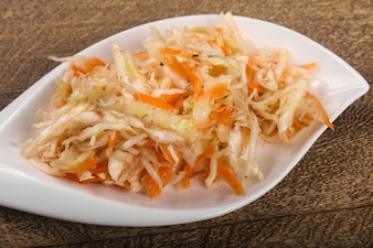 Raw pickled cabbage