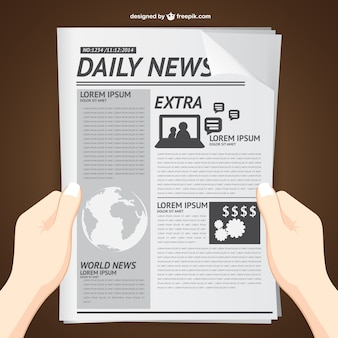 Reading daily news vector