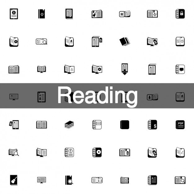 Reading icons with books