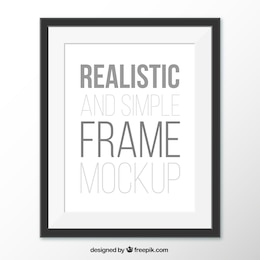 Realistic and simple frame