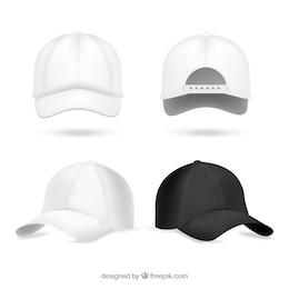 Realistic baseball caps