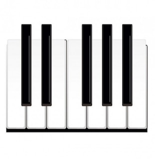 Realistic black and white piano keys