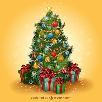 Realistic Christmas tree vector