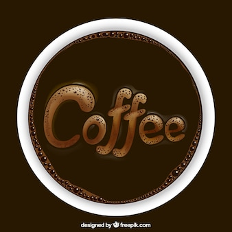 Realistic coffee logo