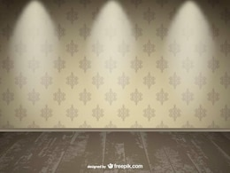 Realistic empty wall spotlight design