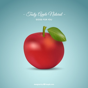 Realistic green apple
