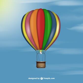 Realistic hot air balloon