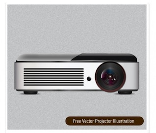 Realistic projector video illustration vector