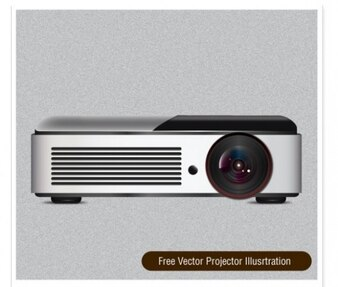 Realistic projector video illustration vector