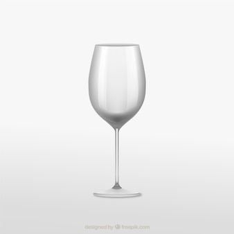 Realistic wineglass