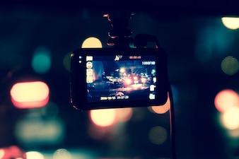 Recorder camera on car