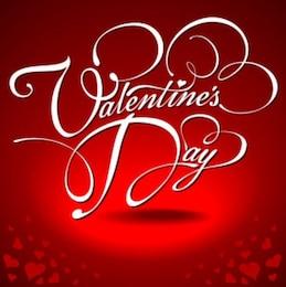 Red background valentine day vector