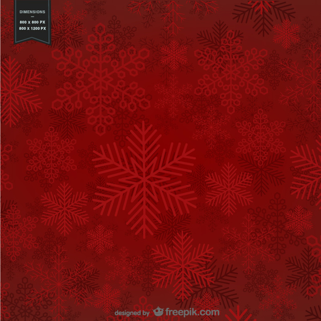 Red background with snowflakes for Christmas