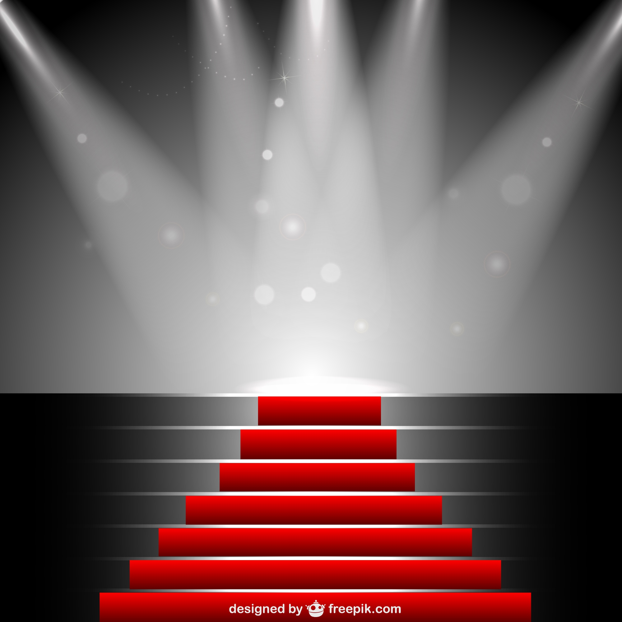 Red carpet under sportlight vector