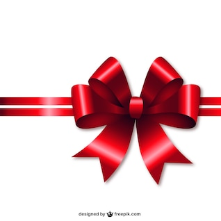Red Christmas ribbon