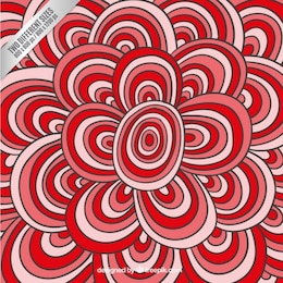 Red circular doodles background
