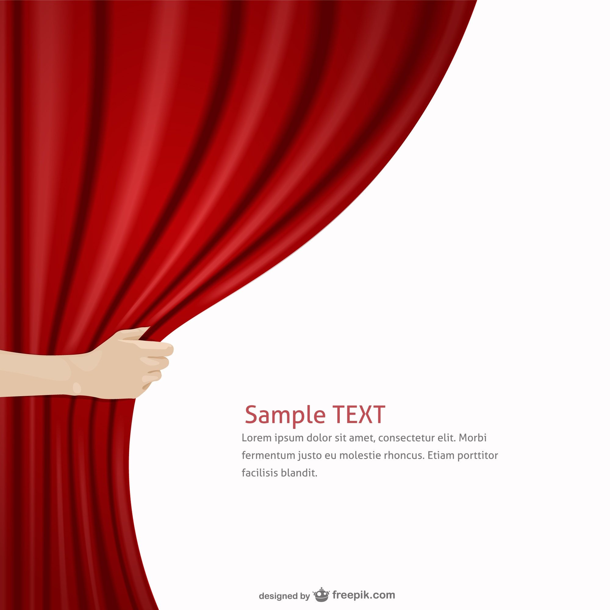 Red curtain template