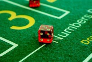 red dice  gamble