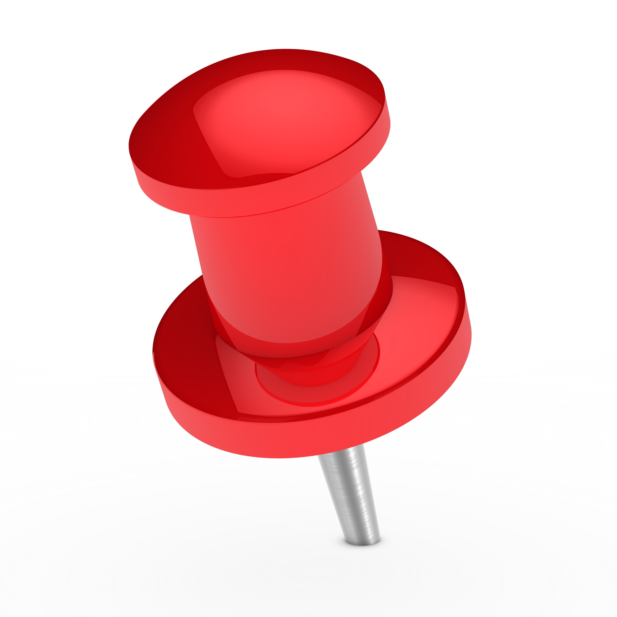 Red drawing pin