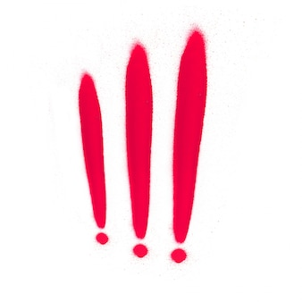 Red exclamation marks
