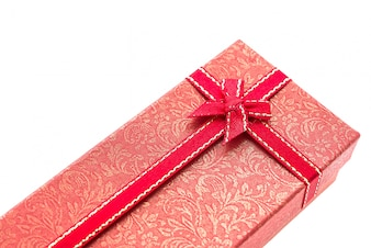 Red gift with a red tie