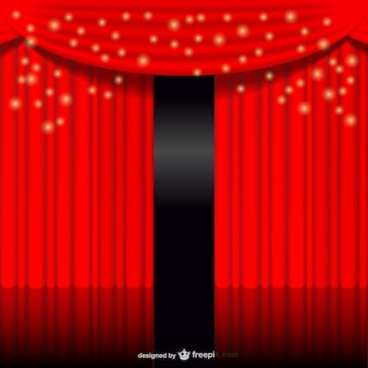 Red glowing curtain