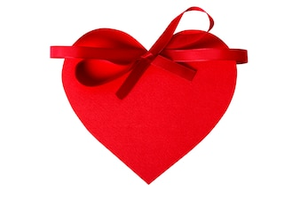 Red heart with a bow