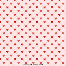 Red hearts background pattern